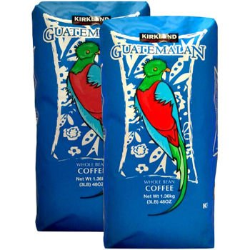 Kirkland Signature Guatemalan Lake Atitlan Whole Bean Coffee 3 lb Bag 2-pack