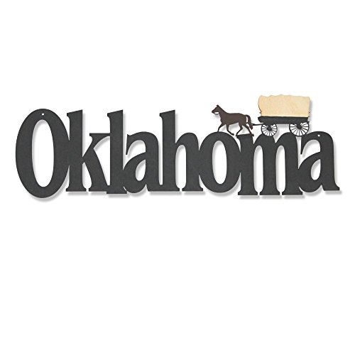 Memory Mats & Word Art US States Decorative Wall Signs, Vacation & Destination Geographic Graphic Plaque (Oklahoma) ()