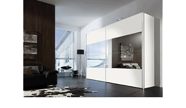 SAM® Armario Boa flotante Puerta Corredera 300 cm blanco Espejo ...