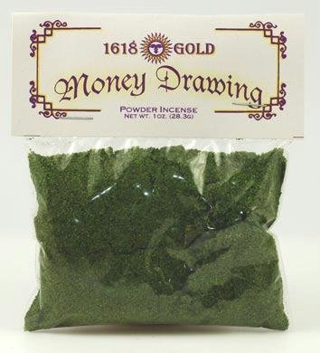 AzureGreen IPGMOND 1 oz 1618 Gold Money Drawing Powder Incense