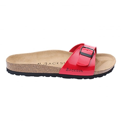 Backsun - Tongs / Sandales - Paris Homme Rouge Vernis Semelle Noire - Rouge