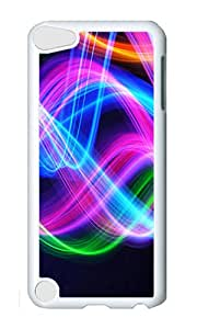 iPod 5 Case,VUTTOO Cover With Photo: Light Waves For iPod Touch 5 - PC White Hard Case