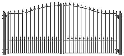 ALEKO Munich Style Iron Wrought Gate 12' Ornamental Dual Swing Driveway Gates 12'
