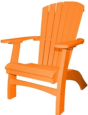 Poly Casual Seaside Upright Adirondack Chair Orange