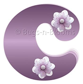 Astounding C Purple Daisy Flower Alphabet Letter Name Initial Wall Download Free Architecture Designs Oxytwazosbritishbridgeorg