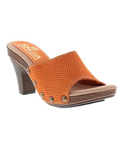 Abito Da Donna Sbicca Sandalo Arancione Traforato