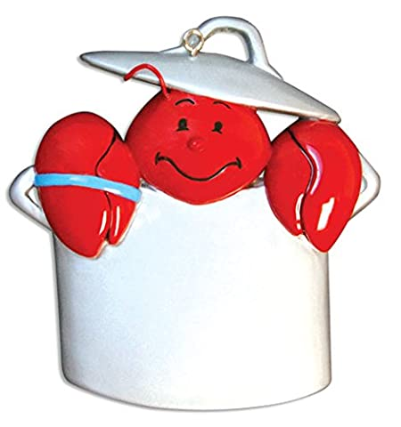 PERSONALIZED CHRISTMAS ORNAMENTS TRAVEL-LOBSTER/POT - Customized Lobster