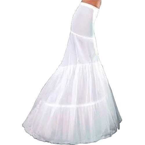 Trumpet Sweep - Dexinyuan 2 Hoops Slip Mermaid Wedding Accessories Crinoline Underskirt Petticoat Bridal Prom Dress for Wedding Dress
