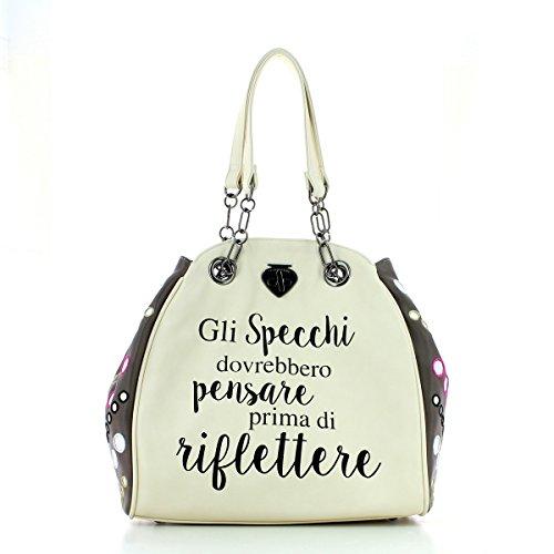Borsa donna Classic Mini Mirror Specchi LE PANDORINE primavera/estate 2017 Grigio