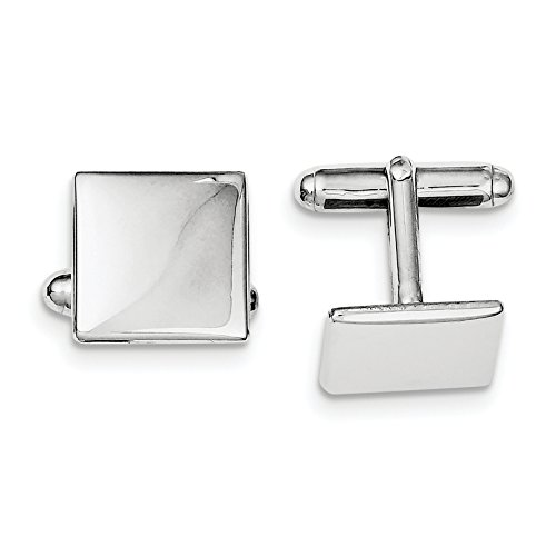 ICE CARATS 925 Sterling Silver Square Cuff Links Mens Cufflinks Man Link Fine Jewelry Dad Mens Gift Set by ICE CARATS