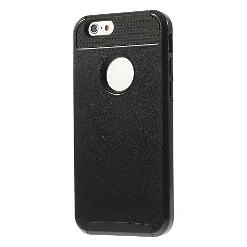 JUJEO 2-in - 1, Netzoptik, PC und TPU Hybrid Schutzhülle für iPhone 6, Schwarz