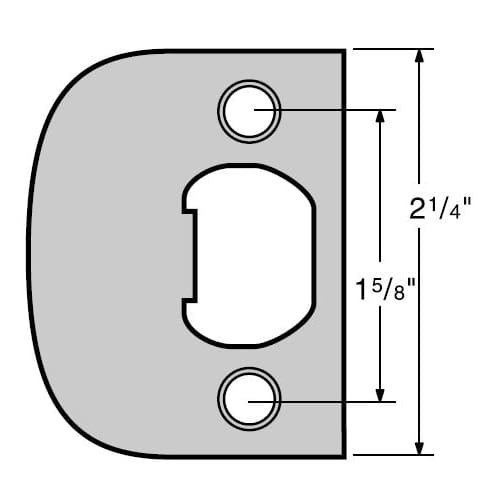15 Satin Nickel Latch - Kwikset 83437-15 Satin Nickel Full Lip Square Corner Strike