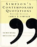Simpson's Contemporary Quotations, James B. Simpson, 0062701371