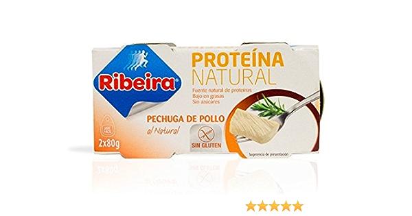 Ribeira Proteina Natural - Pechuga de pollo al natural - 2 latas ...