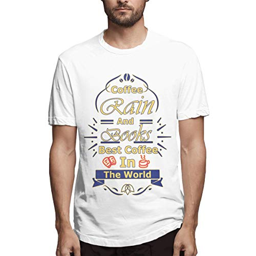 Coffee Rain and Books Best Coffee in The World Men's Printing Sport White Coffee Beans Online,Decaf Coffee Jersey S