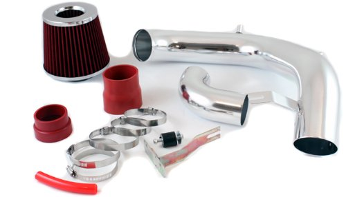 2003 2004 2005 Dodge Neon SRT-4 Turbo Cold Air Intake System with Filter - Red (Srt 4 Short Intake Ram)