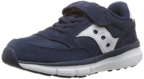 (Saucony Jazz Lite A/C Sneaker (Little Kid), Navy/White, 1.5 Medium US Little Kid)