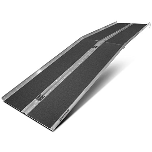 "Titan Ramps 10' ft Aluminum Multifold Wheelchair Scooter Mobility Ramp portable 120"" (MF10)"