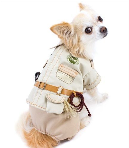 Indiana Jones Pet Costume (Indiana Bones Costume for Dogs - Size 6 (16