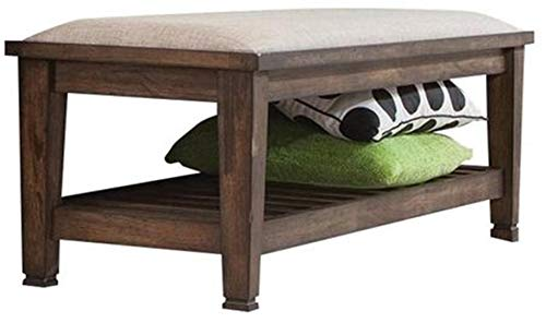 Franco Bench Beige and Burnished Oak