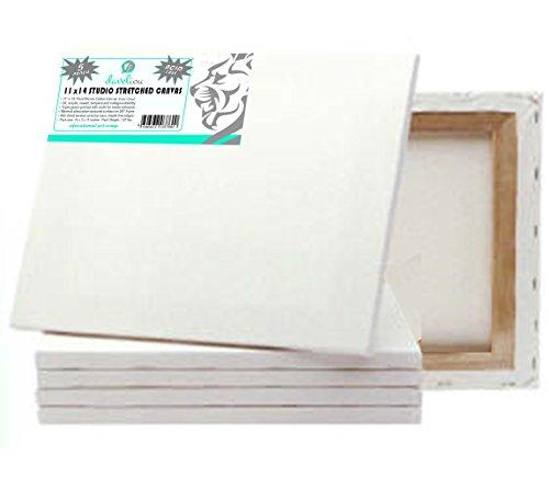 Daveliou Stretched Canvas 11x14 - Canvas Art 5-Piece Pack - Triple Primed Art Canvas … - Triple Frame Set