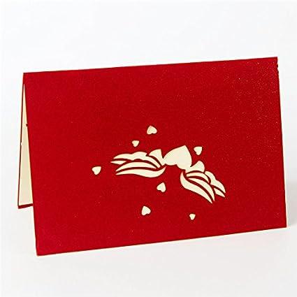 Biglietto per San Valentino,Deesos Biglietto dauguri per gli innamorati miglior regalo per il compleanno o lanniversario dellamante Biglietto di auguri pop-up 3D con bella carta tagliata