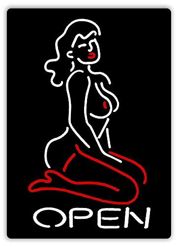 TGDB Strip Club Open Red/White Neon Art Amsterdam Vegas Decor Novelty Art Sign Size 8x12 inch