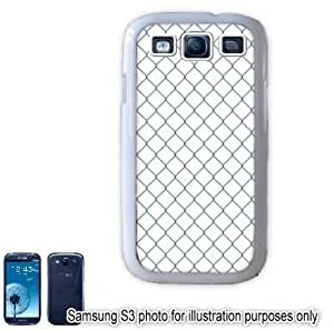 Blue Diamond Fence Pattern Samsung Galaxy S3 i9300 Case Cover Skin White