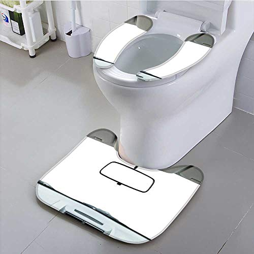 UHOO2018 Universal Toilet seat car Rear View Mirror Isolated on White Cushion Non-Slip by UHOO2018