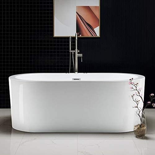 Woodbridge BTS1606/B0030 67″ Whirlpool Water Jetted and Air Bubble Freestanding Bathtub