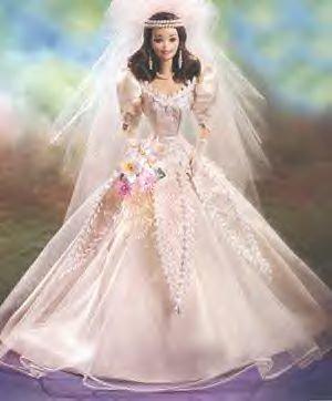 Mattel Blushing Orchid Bride Porcelain Barbie Doll ()