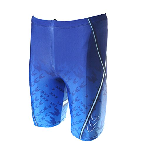 Messar Men's Swim Compression Speed Jammer Shorts Swimsuit Swimwear (US L/Asian Tag 4XL(Waist:36