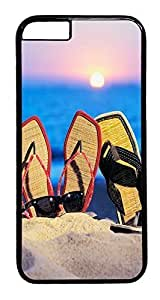 Diy Yourself ACESR Beach Sandals iphone 4 4s case cover PC - Black, Back Cover BONlxuWPf36 case cover for Apple iphone 4 4s