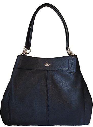 Coach F27593 Pebbled Leather Lexy Shoulder Bag Dark Midnight Blue