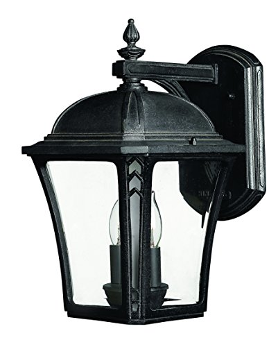 Price comparison product image Hinkley 1334MB Traditional Two Light Wall Mount from Wabash collection in Blackfinish