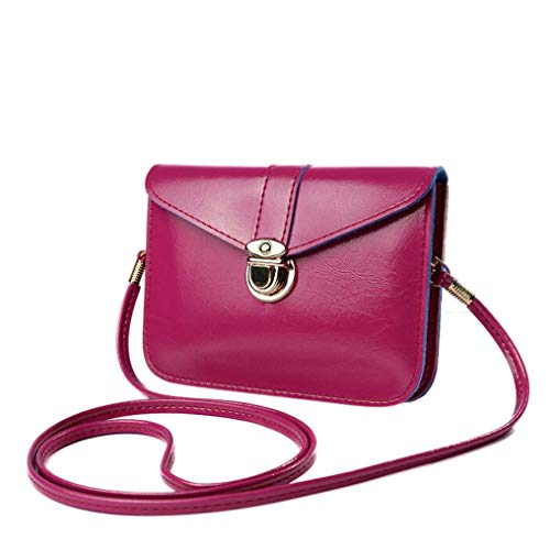 Kanpola Zero Purse Bag Leather Handbag Single Shoulder Messenger Phone Bag Purple Purple1