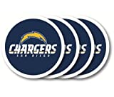 NFL Los Angeles Chargers Vinyl Coaster Set (Pack of 4)