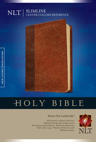 Slimline Center Column Reference Bible NLT, TuTone (Red Letter, LeatherLike, -