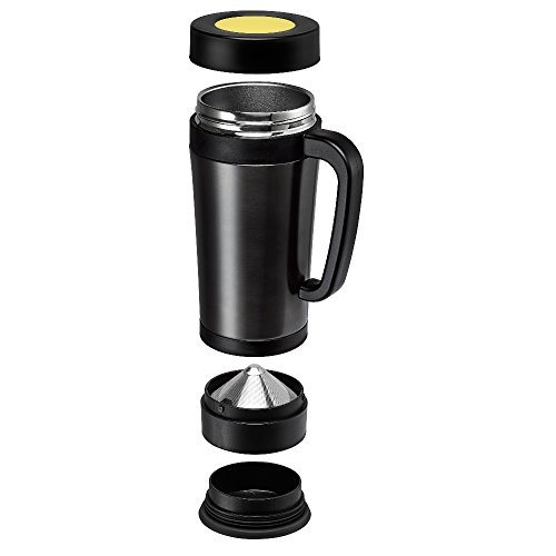 Pour Over Coffee Maker Stainless Steel : Consumer Associates Pour Over Coffee Maker Thermal Travel Mug Built-in Stainless Steel Dripper ...