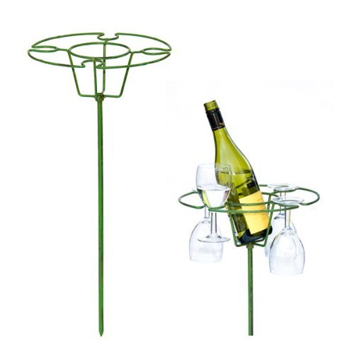 Hold your wine bottle and glasses safely and securely with no danger of broken glasses or spilt drinks Wimbledon Wine and Glasses Holder Perfect for any social events such as weddings,parties,camping,days at the beach,bar-b-ques,days at the races,festiv