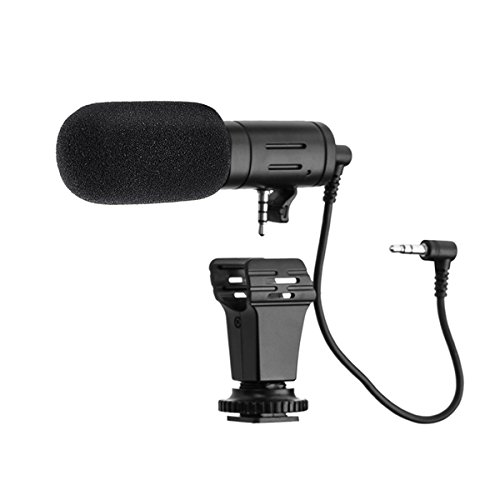 Camera Microphone, EIVOTOR Mic-06 3.5mm Digital Video Recording Microphone for D-SLR Camera, DV Camera, Mobile Phone and Computer, Black by EIVOTOR