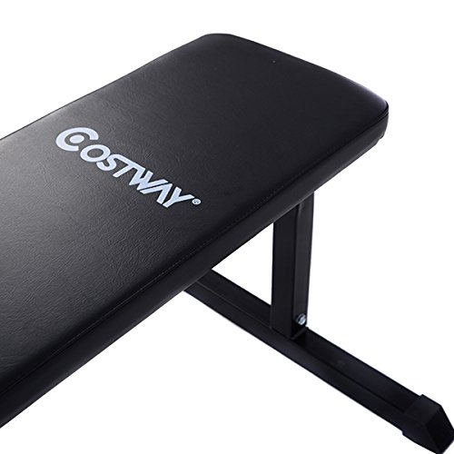 "Goplus Weight Bench Sit Up Crunch Board Abdominal Fitness AB Exercise Flat Equipment (46"" x 20.5"" x 18"")"
