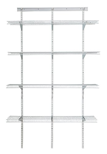 ClosetMaid 2845 ShelfTrack 4ft. Pantry Organizer Kit, White ()