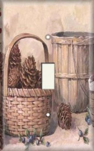 Decorative Light Switch Plate Cover - Pine Cone Baskets ()