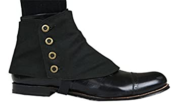 Men's Steampunk Costume Essentials Canvas Premium Button Spats $31.95 AT vintagedancer.com