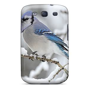 Protective Tpu Case With Fashion Design For Galaxy S3 (blue Jay)