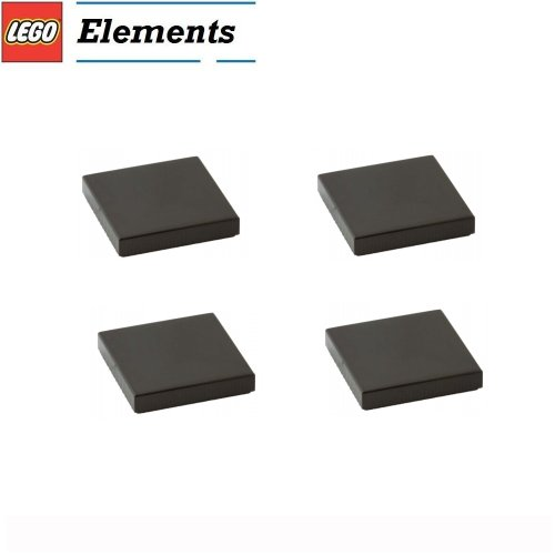 Lego Parts: Tile 2 x 2 (PACK of 4 - Black)