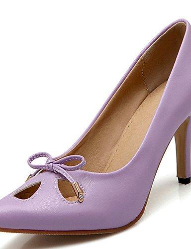 GGX/ Damen-High Heels-Kleid / Lässig / Party & Festivität-PU-Stöckelabsatz-Absätze / Spitzschuh-Schwarz / Grün / Rosa / Lila purple-us4-4.5 / eu34 / uk2-2.5 / cn33