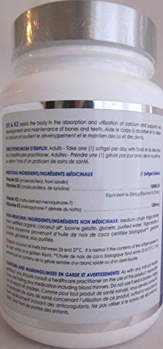 D3+K2 - Organic Coconut Oil Base-120 softgels Brand: CanPrev