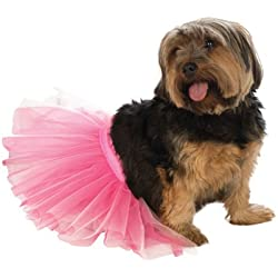 Rubie's Pet Tutu, Pink, Small/Medium